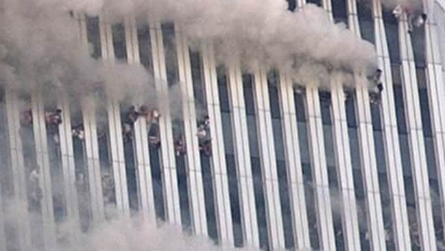 One of the most horrific and enduring 9/11 images was the people trapped in the upper levels of the twin towers. Many jumped. Some held hands while they did so. At least two hundred people are believed to have taken the fateful plunge. Many conspiracy believers argue their government did this to them.