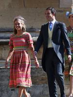 Actress Cressida Bonas (L) arrives at the wedding of Prince Harry to Ms Meghan Markle at St George's Chapel, Windsor Castle on May 19, 2018 in Windsor, England. Credit: Chris Jackson/Getty Images