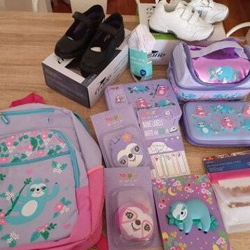 One mum had a 'very happy little girl' after scoring all of this for under $100. Picture: Facebook/Aldi Mums.