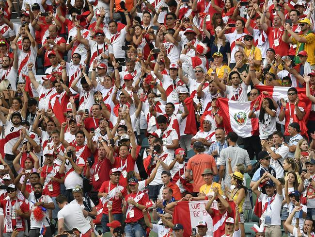Peru fans have been in full voice.