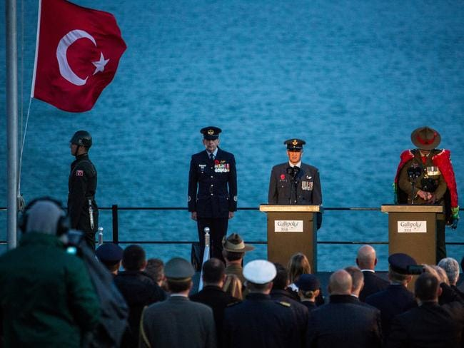 The dawn service at Gallipoli. Picture: Franck Bessiere