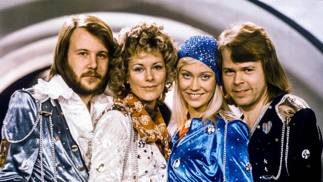 Picture taken in 1974 in Stockholm shows the Swedish pop group Abba with its members (L-R) Benny Andersson, Anni-Frid Lyngstad, Agnetha Faltskog and Bjorn Ulvaeus. Picture: AFP / TT News Agency / Olle LINDEBORG.