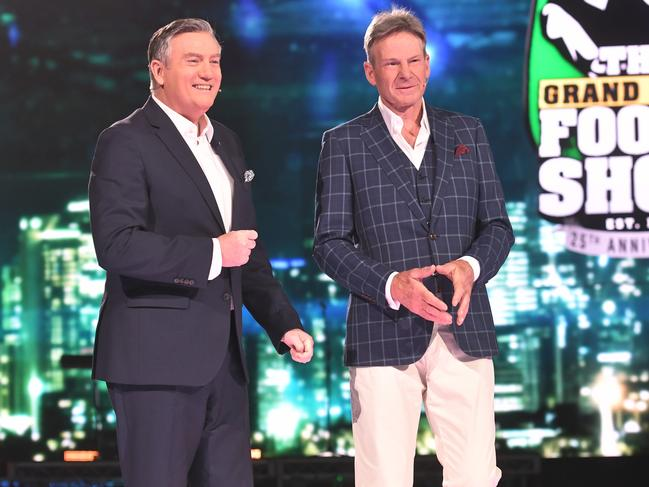 Eddie McGuire and Sam Newman at the final Footy Show screening.