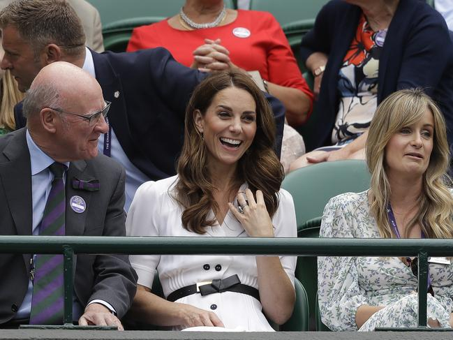 Kate is happy to sit among the people during her Wimbledon visits. Picture: AP Photo/Kirsty Wigglesworth