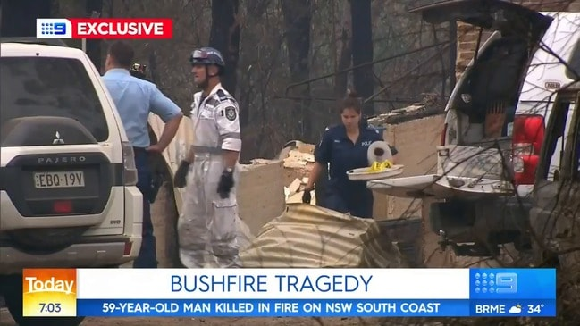 Man's body found in bushfire ravaged home (Today)