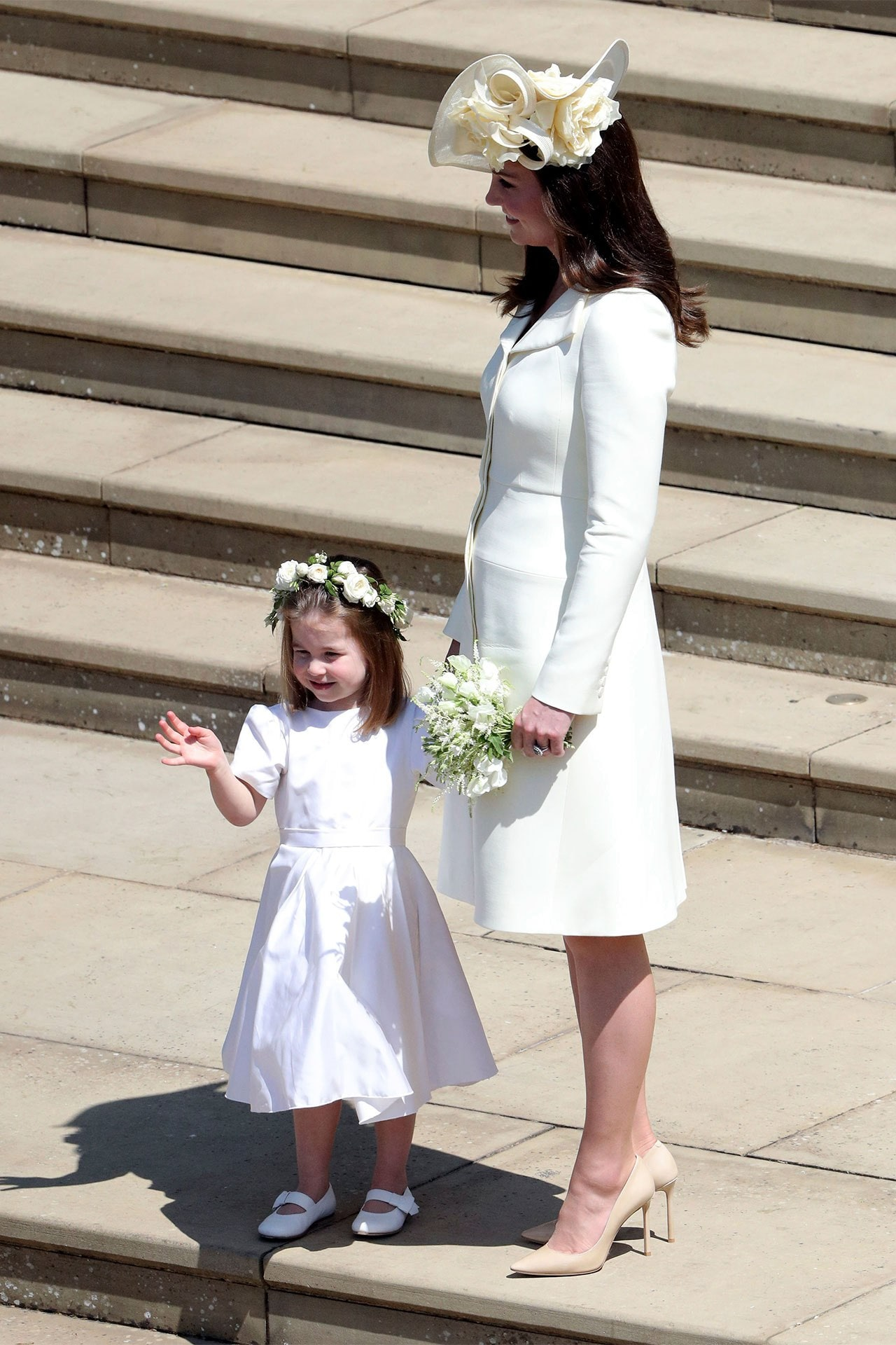 ac526d816f9 Kate Middleton re-wears her Alexander McQueen coat dress for the fourth  time to the royal wedding