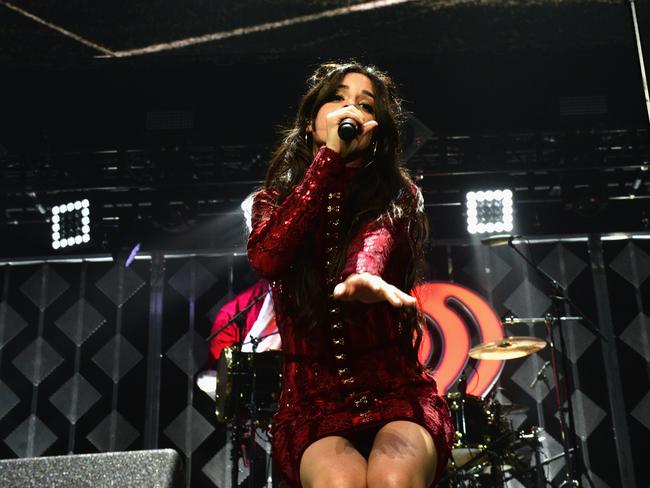 Camila Cabello of Fifth Harmony performs at the Y100's Jingle Ball 2016 in Florida. Picture: Gustavo Caballero