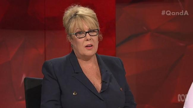 Teena McQueen on ABC's Q&A.