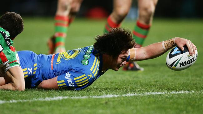 The Eels could lose young guns like Tepai Moeroa under a draft system. Picture: Mark Evans