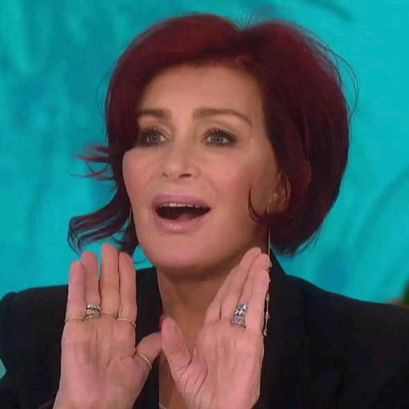 Sharon Osbourne's got a brand new face. Picture: The Talk