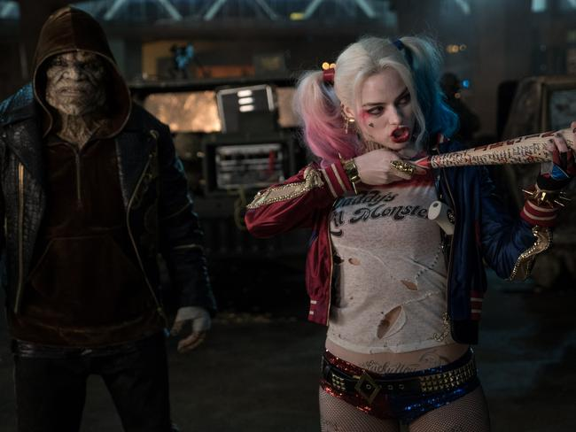 Breakout role! Margot Robbie, right, as Harley Quinn in Suicide Squad.