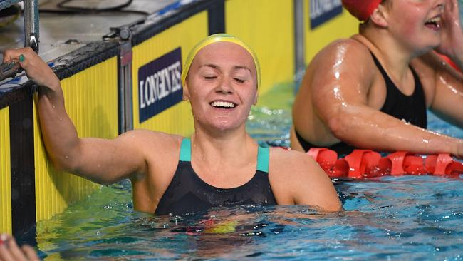 Ariarne Titmus after winning the women's 400m freestyle final.
