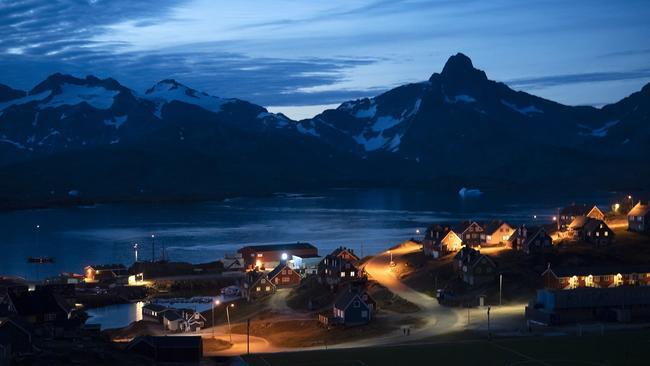 After sunset in Tasiilaq, Greenland. Picture: Felipe Dana/AP