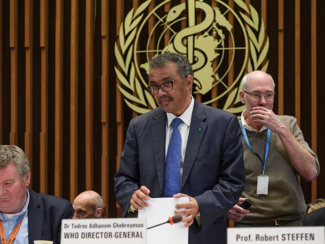 WHO chief Tedros Adhanom Ghebreyesus fears coronavirus could go in 'any direction'. Picture: Fabrice Coffrini/AFP