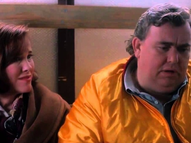 John Candy made up most of his lines on the spot.