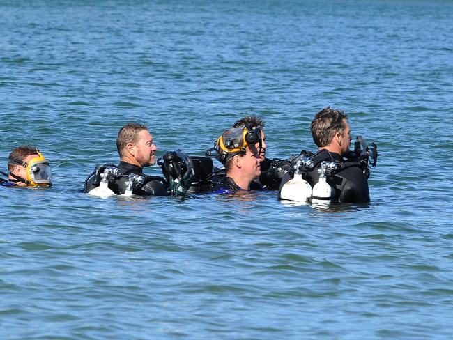 Police divers are looking for clues as the nine-month-old's death. Picture: AAP image, John Gass.