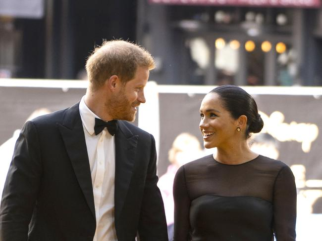 Harry and Meghan at the European premiere of Disney's The Lion King. Picture; Getty