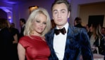 Pamela Anderson with son Brandon Lee. Image: Getty
