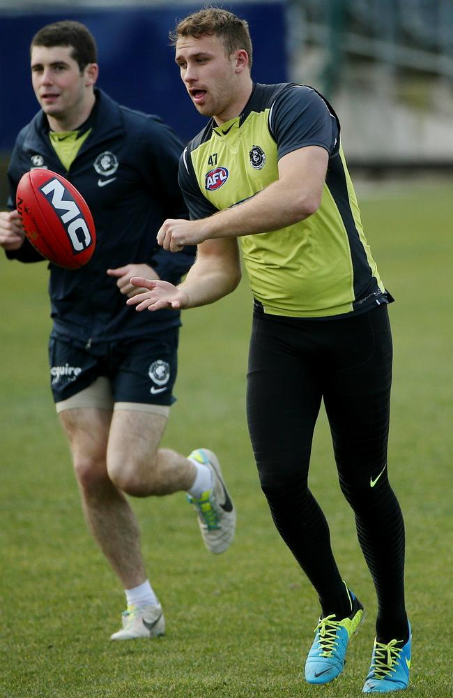 Irishman Ciaran Sheehan will also play his first AFL game this weekend. Picture: Colleen Petch