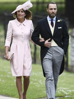 Carole Middleton with her son James. Photo: Justin Tallis/Pool via AP
