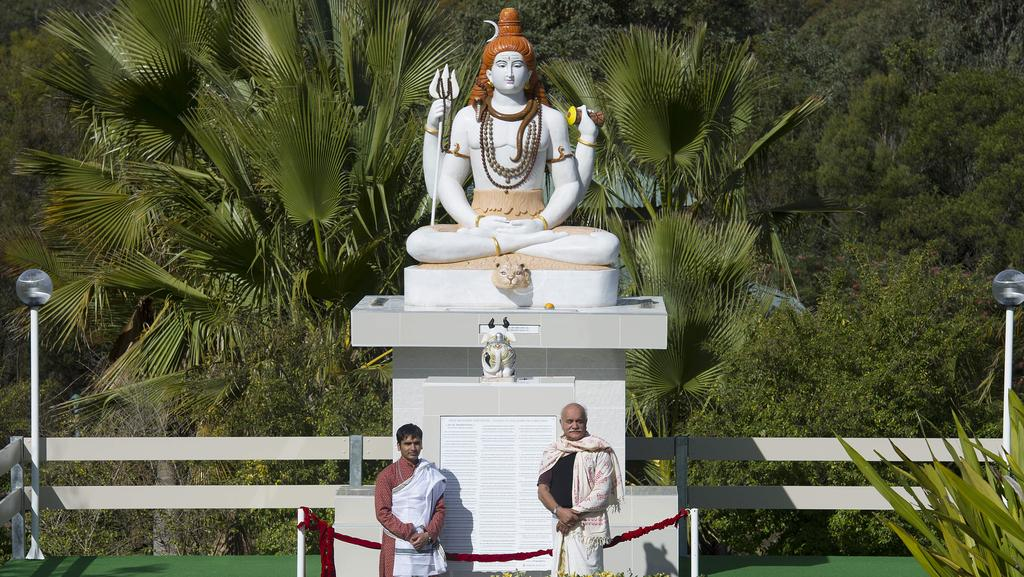 A Huge Marble Statue Of Lord Shiva Has Been Unveiled In