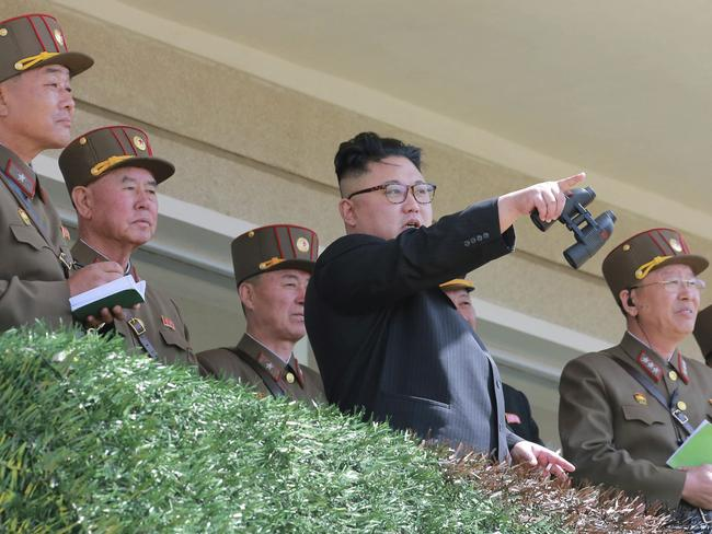 The military drills may include a simulated operation to kill North Korean leader Kim Jong-un. Picture: Korean Central News Agency/Korea News Service via AP