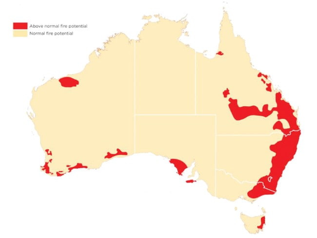 The Australian Seasonal Bushfire Outlook released by the Bushfire and Natural Hazards CRC.