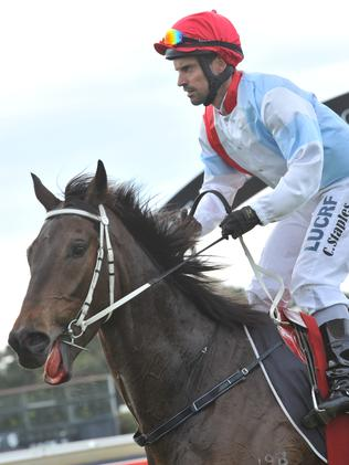Great Shot gave jockey Chris Staples his second Group 1 win on Saturday.