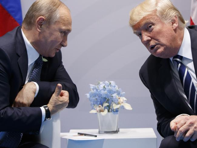 Donald Trump was advised not to congratulate Russian President Vladimir Putinon his election win in a very firm note. Picture: AP Photo/Evan Vucci