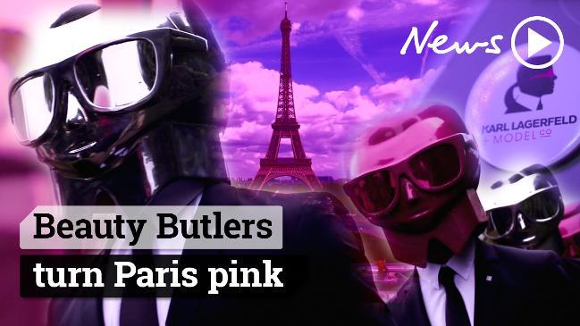 Beauty Butlers turn Paris pink