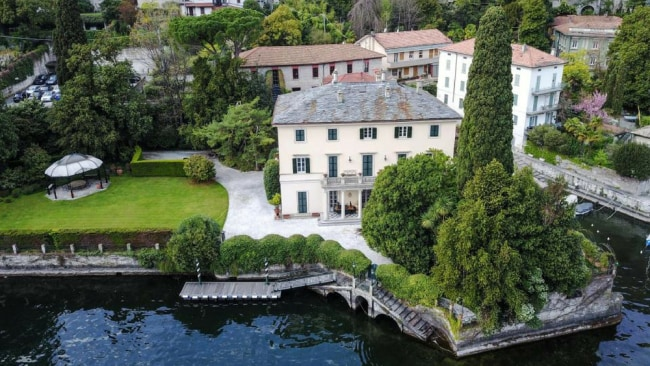 Villa Oleandra - the 18th century mansion that reportedly hosted the festivities. Image: Splash News.