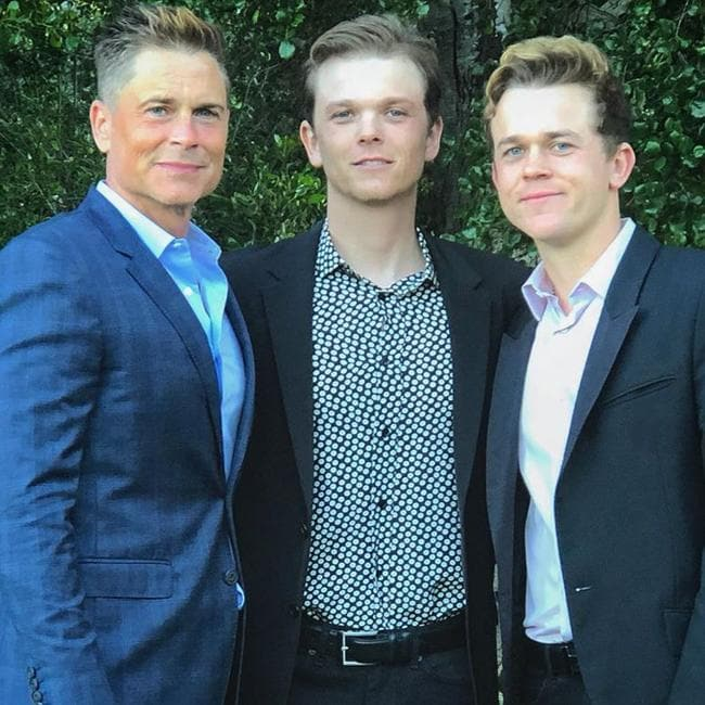 Lowe with his sons Matthew, 27 and John, 25. Picture: Instagram/RobLowe