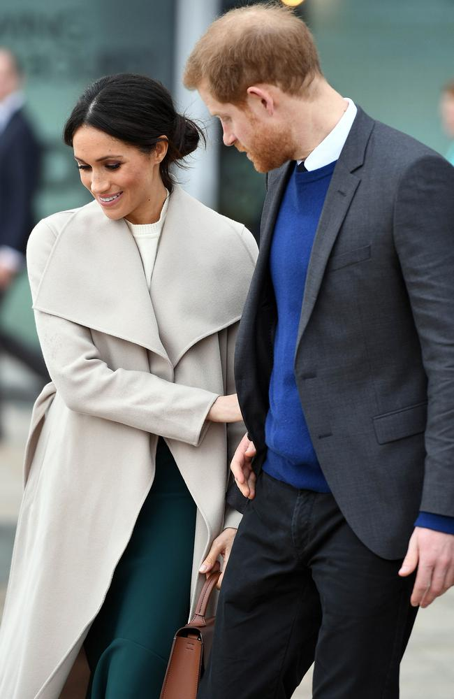 Prince Harry and Meghan Markle visit Titanic Belfast in Belfast, Northern Ireland. Picture: MEGA