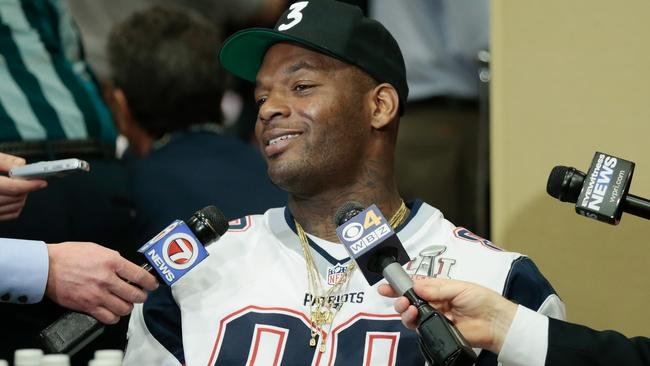 Martellus Bennett with the New England Patriots before Super Bowl LI.