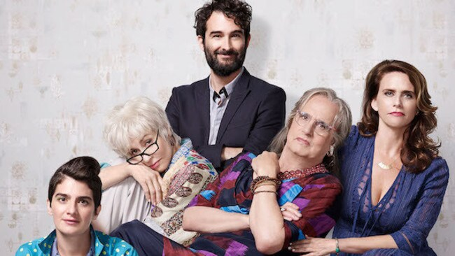 The Pfefferman family on Transparent, including Jeffrey Tambor (second from right).