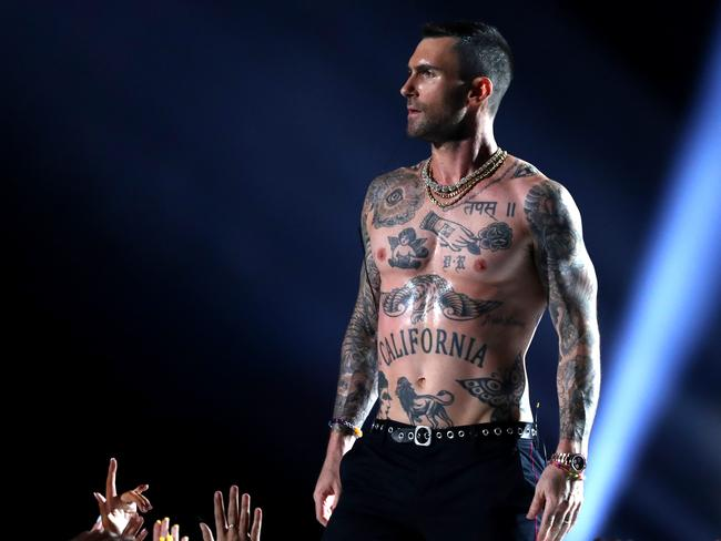 Levine had no issues with freeing the nipple. Picture: Getty