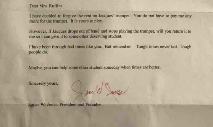 Son Shares Moving Letter To His Mum Forgiving Trumpet Debt Kidspot