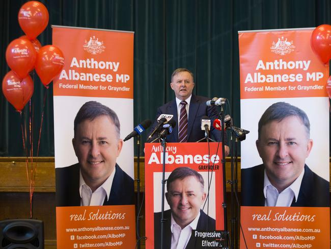 Rival.... Incumbent Anthony Albanese