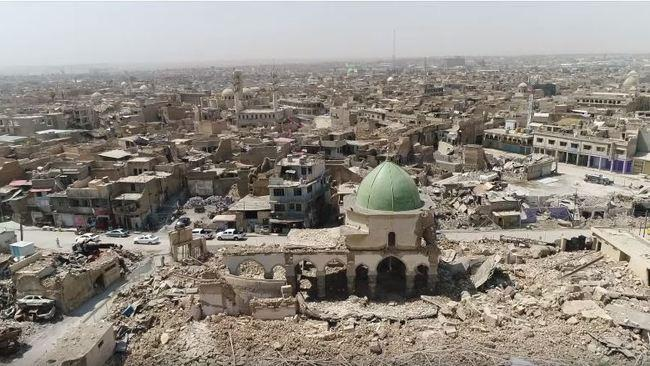 Drone Footage Shows Devastation in Mosul, a Year After Liberation From Islamic State