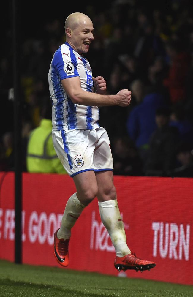 Huddersfield Town's Aaron Mooy is one of two Aussies on the shortlist.