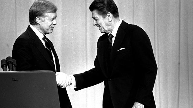 Republicans turned to Ronald Reagan to correct Carter's presidency. Picture: AP.