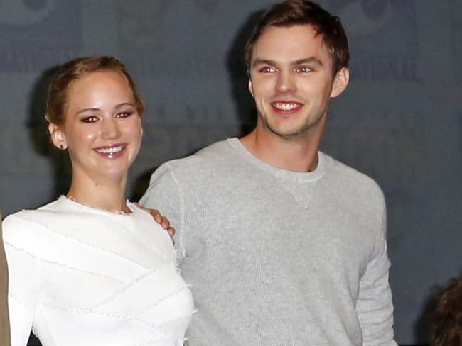 Jennifer Lawrence and Nicholas Hoult. Picture: Richie Buxo / Splash News Splash News