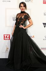 Michala Banas arrives on the red carpet at the 59th annual TV Week Logie Awards on April 23, 2017 at the Crown Casino in Melbourne, Australia. Picture: Julie Kiriacoudis