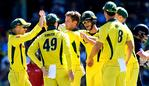 SYDNEY, AUSTRALIA - JANUARY 21: Adam Zampa of Australia is congratulated by team mates after taking the wicket of Jonny Bairstow of England during game three of the One Day International series between Australia and England at Sydney Cricket Ground on January 21, 2018 in Sydney, Australia. (Photo by Bradley Kanaris/Getty Images)