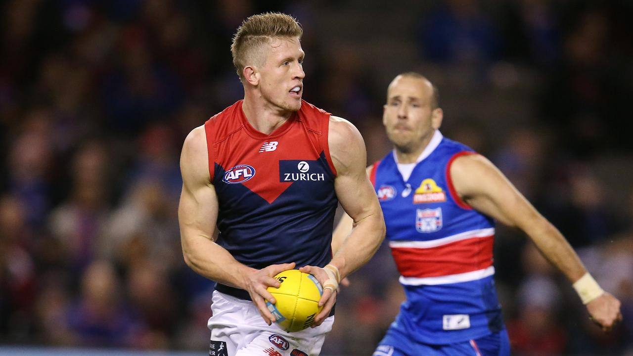 Melbourne's Sam Frost says he's attracted rival club interest. Picture: Michael Klein