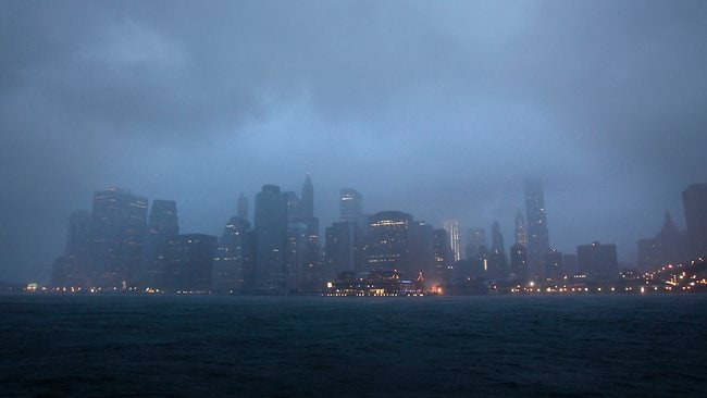 As Hurricane Irene bore down on New York the city all but shut down for the strongest tropical lashing since the 1980s. Picture: Seth Wenig / AP