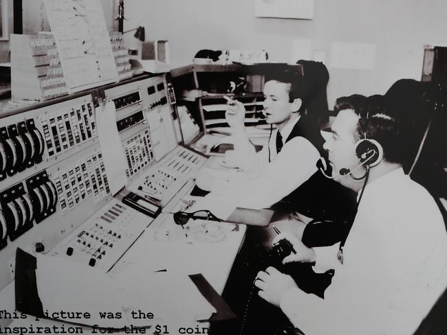 John Saxon and Mike Dinn in the operations room at the Honeysuckle facility. Picture: Supplied