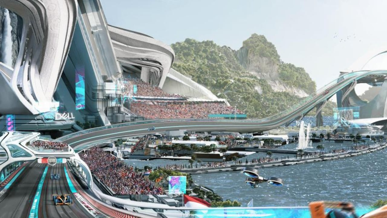 McLaren believe this is what the F1 track of the future will look like.