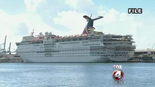 The Carnival Ecstasy was on the final leg on a three-day trip. Picture: Fox 4