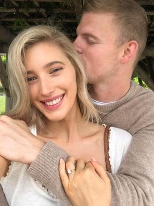 Megan Ryan and Jordan Elsey are engaged. Picture: Instagram.